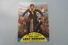 """FRANK CAPRA """"LOST HORIZON"""" MOVIE VINTAGE 1937 COLUMBIA PICTURES roadshow PROGRAM"""