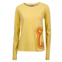 Wuwi Womens / Ladies Long Sleeve Yellow 100% Cotton T-shirt