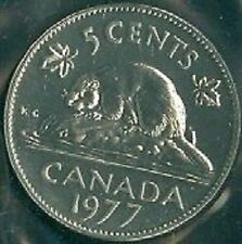 1977-PL Proof-Like Nickel 5 Five Cent '77 Canada/Canadian BU Coin Un-Circulated