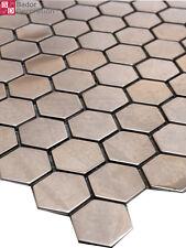 1 Matte Edelstahlmosaik Mosaike Mosaikfliesen Edelstahl Metall Metallmosaik Neu