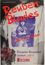 REUBEN BLADES Y SON DEL SOLAR, CONJUNTO CESPEDES good 1989 Fillmore poster #106