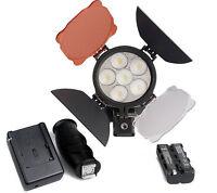 Pro Led Video Light Lamp+NP-F750 Battery Kit For Canon Nikon Camera DV Camcorder