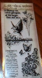 HOLTZ STAMPERS ANONYMOUS CLEAR STAMPS FLIGHTS OF FANCY ~ BIRD wks CTMH blks