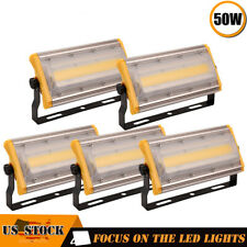 5X 50W Led Flood Light Cob Outdoor Spotlights Landscape Garden Yard Warm White