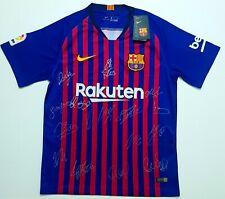 2018/19 FC Barcelona COA Squad Signed Shirt