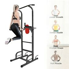 Power Tower Workout Dip Station For Home Gym Strength Training Fitness Equipment
