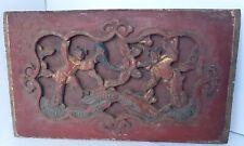 Originale Kaiserliche Audienz Antikes Holzgeschnitztes Relief