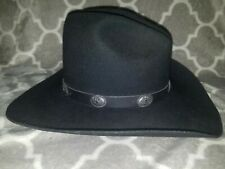 Bailey Tombstone Black Western Cowboy Hat w/Leather Band XX Wool Blend 7  USA