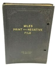 Miles Print And Negative File - Vintage 1940 Sizes 4.25 x 5.25 Photography Rare