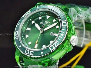 Invicta Men's 52mm GRAND PRO DIVER ANATOMIC Hulk Green Clear Case Strap SS Watch