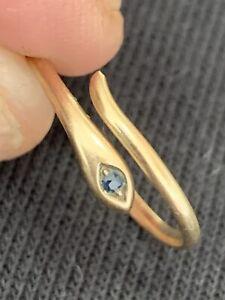 Damen Ring 333 Gold Schlange