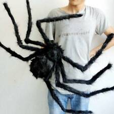 300mm Giant Black Spider Halloween Decoration Indoor Outdoor Haunted House Prop~