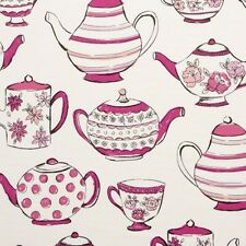 Studio G Teatime China Design in Pink Curtain Upholstery Craft Fabric