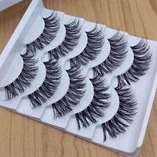 Gracious Maquillaje Hecho a Mano 5 Pares de Pestañas postizas naturales de larga extensión Exquisito