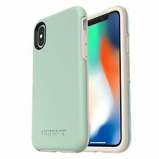Genuine OtterBox iPhone XS & X Symmetry Tough Case Cover - Muted Waters Green