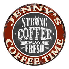 CWCT-0282 JENNY'S COFFEE TIME Chic Tin Sign Decor Gift Ideas