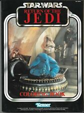 VTG STAR WARS RETURN OF THE JEDI COLORING BOOK 1983 KENNER CANTINA BAND COVER