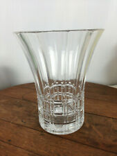 "Vintage Signed Val St Lambert Heavy Crystal Vase  8""T #WH-2"
