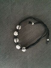 New Black And Silver Bead Bracelet