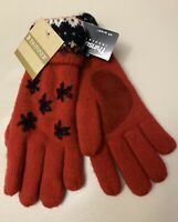 Isotoner Women's Red / Black Gloves Acrylic NWT One Size Retail $22.00