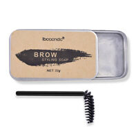 3D Feathery Brow Makeup Balm Styling Brows Eyebrow Gel Wax Waterproof with Brush