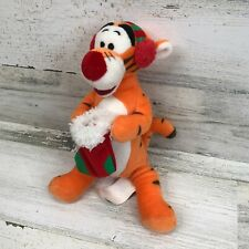 Vintage Disney Winnie the Pooh Tiger Holiday Christmas Stuffed Plush Toy