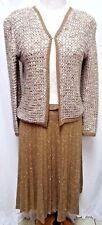 St. John Saks Fifth Avenue Vintage pleated skirt sweater suit Size Sz 6