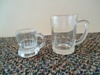 "Vintage Lot Of 2 Beer Mug Shaped Shot Glasses "" GREAT COLLECTIBLE LOT """