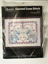"Charmin Counted Cross Stitch Kit Carousel Sampler 14"" x 11"" 50-407 Craft Janlynn"