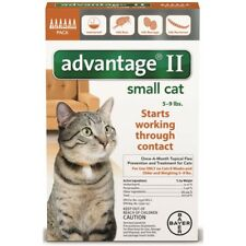 Advantage II Once a Month Topical Flea Prevention for Small Cats 5-9lbs 6Pack