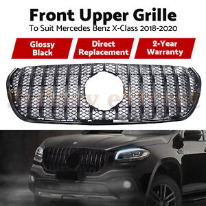 Black Car Front GT Grille Upper Grill For Mercedes Benz X-Class 2018 2019 2020