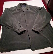 Polo ralph lauren button down corduroy shirt mens xl vintage green