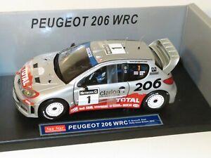 1/18 Peugeot 206 WRC Total  Network Q  Rally GB 2002 Richard Burns / R.Reid