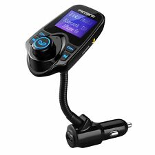 VicTsing Bluetooth FM Transmitter MP3 Player USB Charger Wireless Radio Adapter