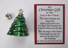 a My Christmas Gift to you Prayer box Charm Tree Mini present inside Ganz pendan