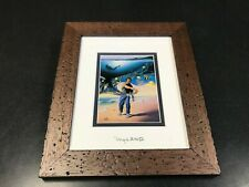 By Wyland & Jim Warren (Other Day At The Office)  Silver Foil Stamp Framed