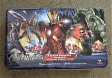 Marvel Avengers Assemble 3 Puzzles Make 1 Panorama Puzzle Metal Tin Box