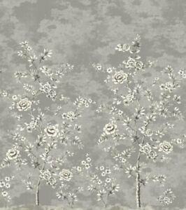 "4 Panels Pelican WALLQUEST MS92100M 108""x120"" Chinoiserie Mural Grays Wallpaper"
