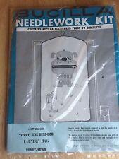 Bucilla Needlework Kit Zippy The Bull Dog Laundry Bag Vintage