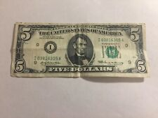Billet 5 Dollars Etats-Unis 1969