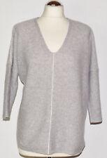 3/4 Arm Damen-Pullover mit V-Ausschnitt aus Kaschmir