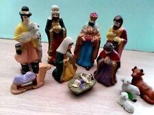More details for vintage porcelain nativity holly family set christmas decor gift