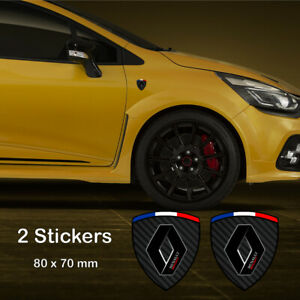 2x RENAULT SPORT Stickers Side Decals Carbon Clio Megane Twingo RS Zoe Badge