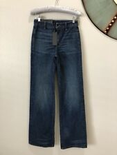New Helmut Lang No Pocket High Rise Wide Leg Jeans Size 25 Blue Fall Dark Wash