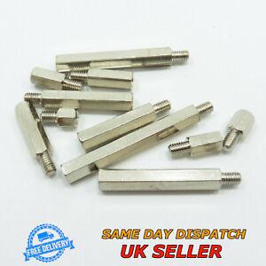 Male-Female M4 Thread Pillar Hexagonal Nickel Spacer PCB Studs Standoff Hex