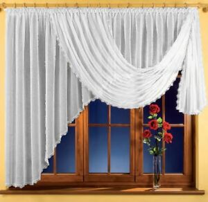 Beautiful Crinkle Net Curtain white Home Window decoration Ready Made