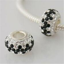 Genuine Swarovski crystal solid 925 Silver Charm Bead