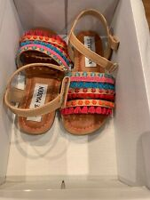 STEVE MADDEN Girls Toddler TGypsyy Nat Multi Kids Sandals Multi-Color Size 10
