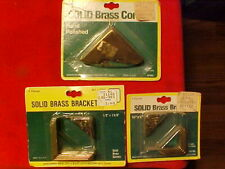 NEW OLD STOCK BRAINERD SOLID BRASS CORNERS BRACKETS MADE IN U.S.A. ROCHESTER NY