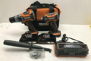 RIDGID R9501 18V OCTANE LITHIUM-ION CORDLESS BRUSHLESS COMBO KIT GR